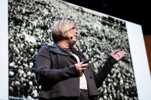 Halla Tómasdóttir at TEDWomen 2016 - It's About Time, October 26-28, 2016, Yerba Buena Centre for the Arts, San Francisco, California. Photo: Marla Aufmuth / TED